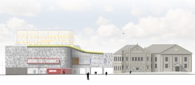 Llanelli Theatre - South elevation sketch